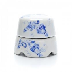 Распаечная коробка белая с росписью гжельские узоры