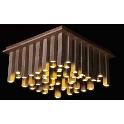 Потолочный светильник Loft Wooden Lines Chandelier