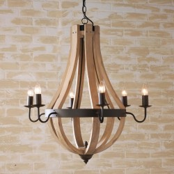 Vintage Antiq Barrel Chandelier