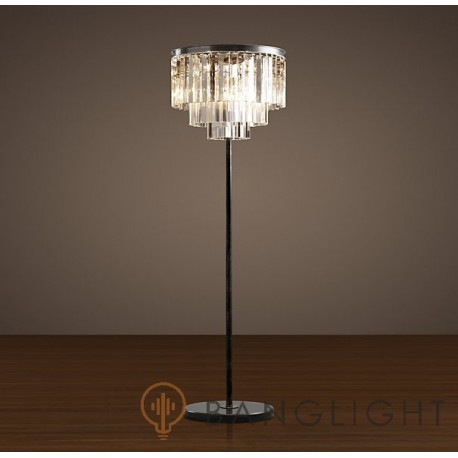 Restoration Hardaware 1920S Odeon Glass Floor Lamp