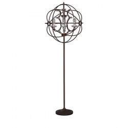 Foucault Orb Crystal Floor Lamp