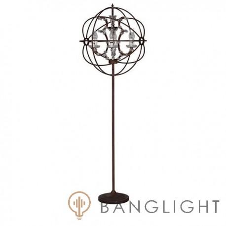 Foucault Orb Crystal Floor Lamp
