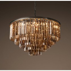 1920s Odeon Glass Fringe Chandelier (M)