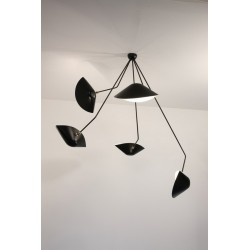 Serge Mouille 6 Arm Ceiling