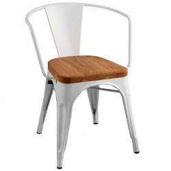 Стул Tolix Armchair Wood