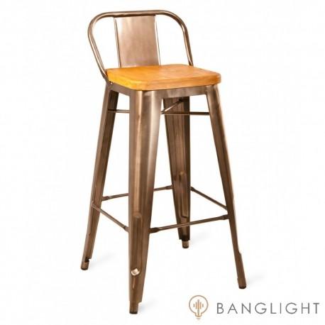 Барный стул Tolix Backed Low Wood